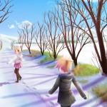 konachan-com-68753-kagamine_len-kagamine_rin-sky-snow-vocaloid