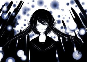 Miku Hatsune black hair