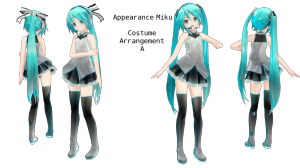 miku costume arrangement