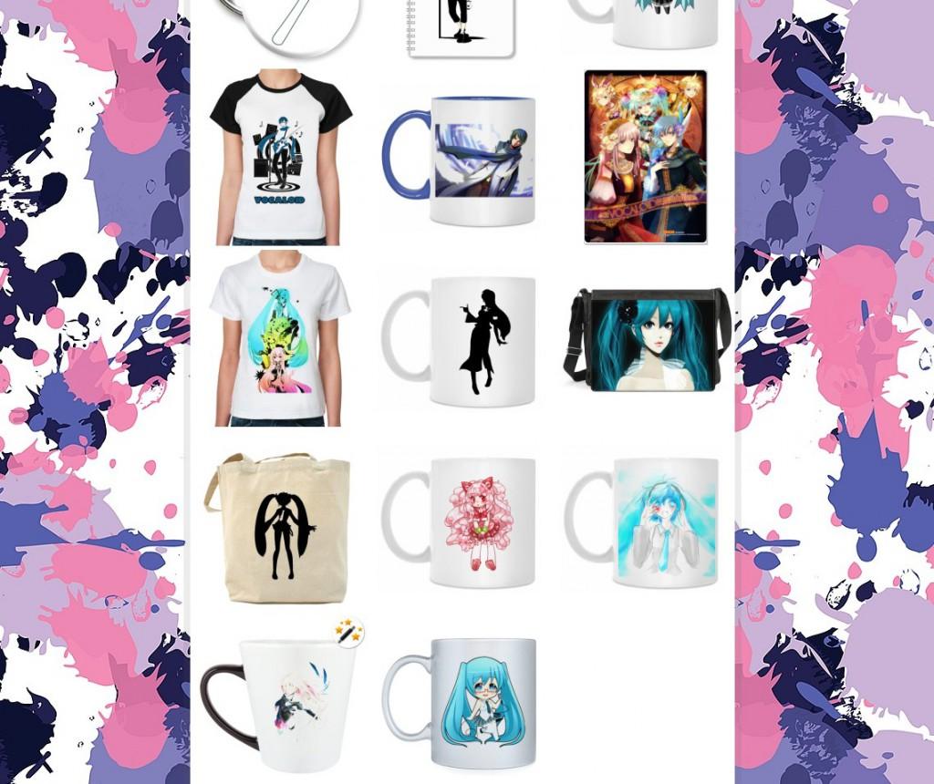 Vocaloid футболки кружки значки
