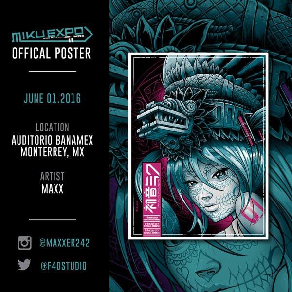 Hatsune Miku Expo Mexican Poster Art